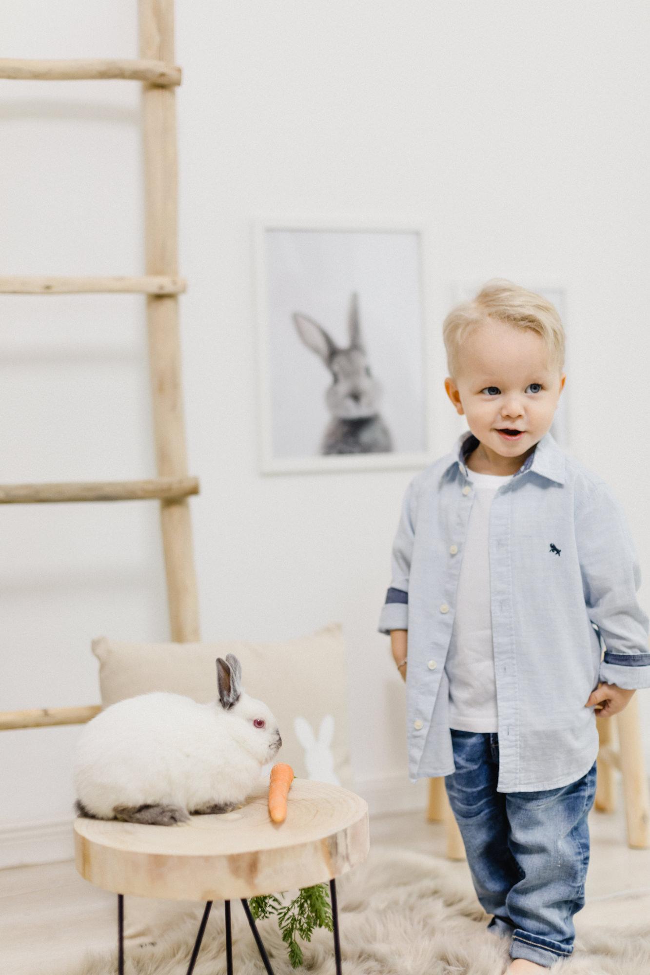 Ostershooting mit kleinen Häschen | Yvonne Scholze Photography im Atelier, Heidenheim