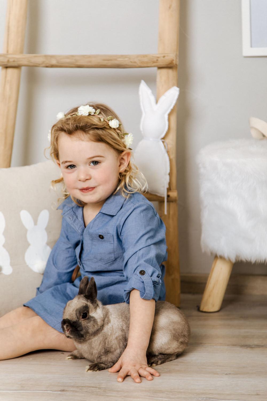 Oster Shooting im Studio - Aktion mit kleinen Hasen